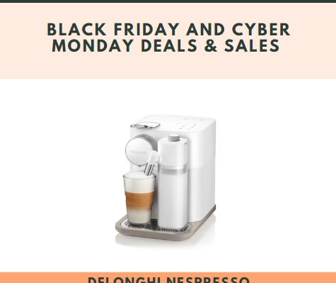 Delonghi Nespresso Lattissima Black Friday